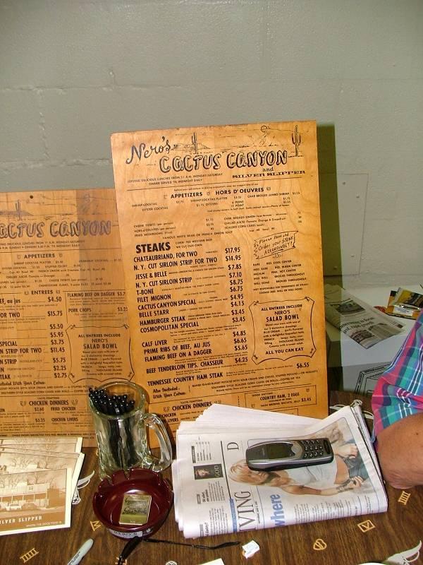 Neros menu