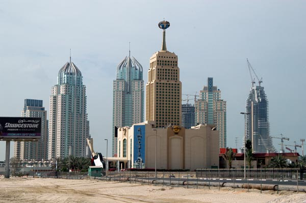 Dubai Marina and the Hard Rock Cafe