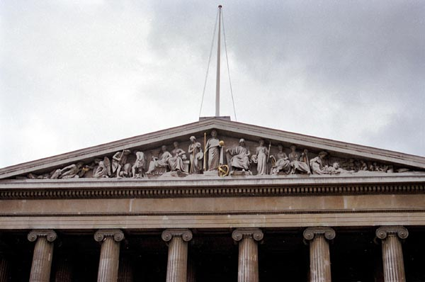 Pediment of the British Museums Greek Revival façade