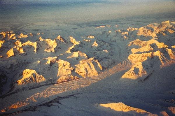 Glacier in the Alaska Range
