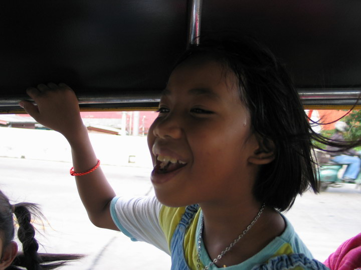 during the tuktuk rides
