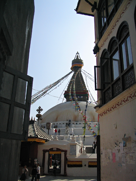 Boudhanath - alley view