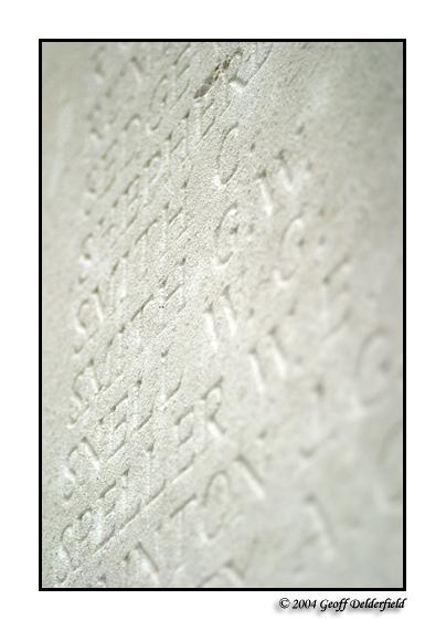 Franco-British Memorial - names of the dead