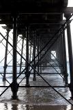 Under the pier at Saltburn