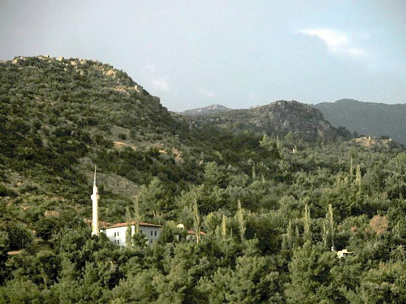 23 View to minaret in hillside village