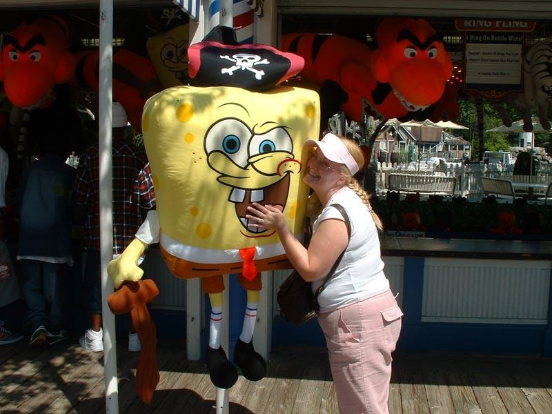 Donna with Sponge Bob Square Pants
