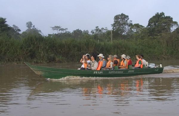 Boating at Sukau