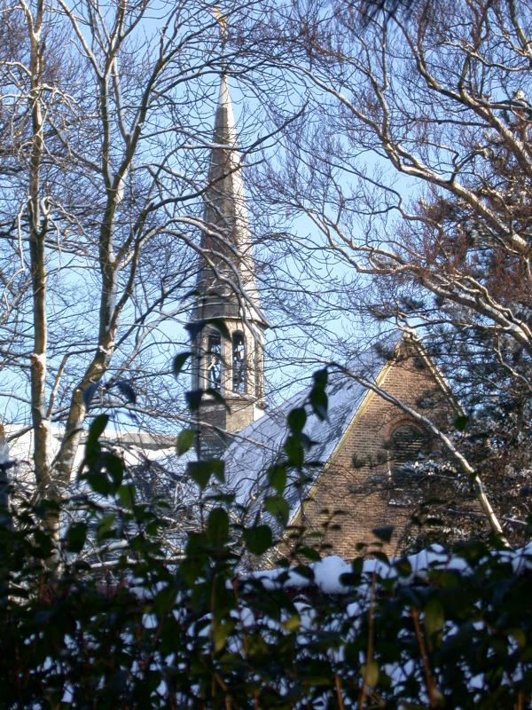 Torenspits van de St. Matthiaskerk