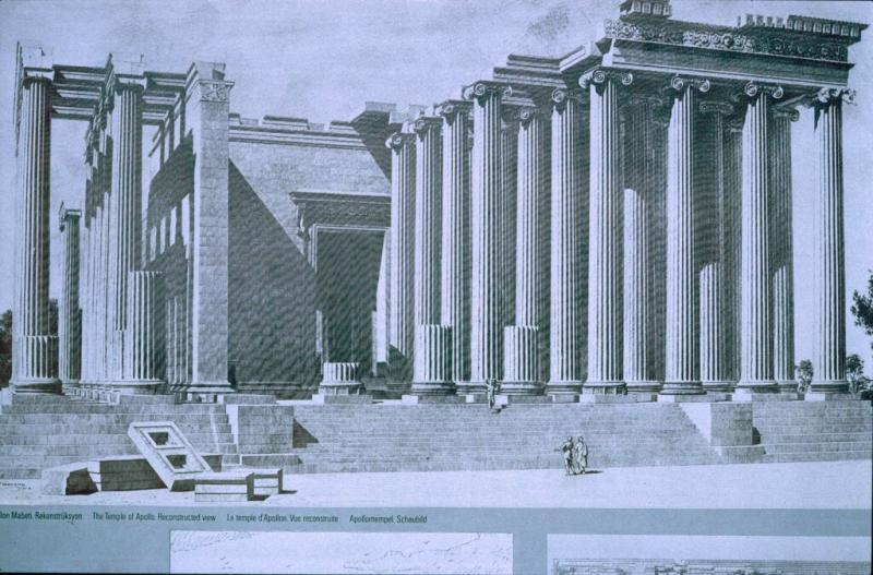 Dydima Apollo temple a reconstruction