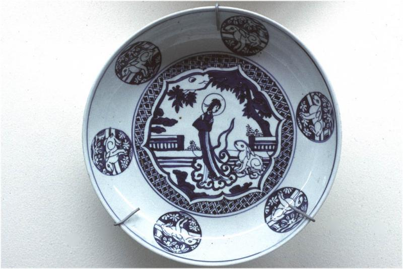 Porcelain with hare.