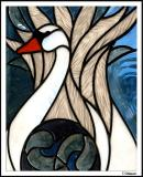 Stained (Glass) Swan