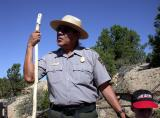 Clyde Benally, the park ranger who led our tour of Cliff Palace, shared a Native American's perspective of the site with us.