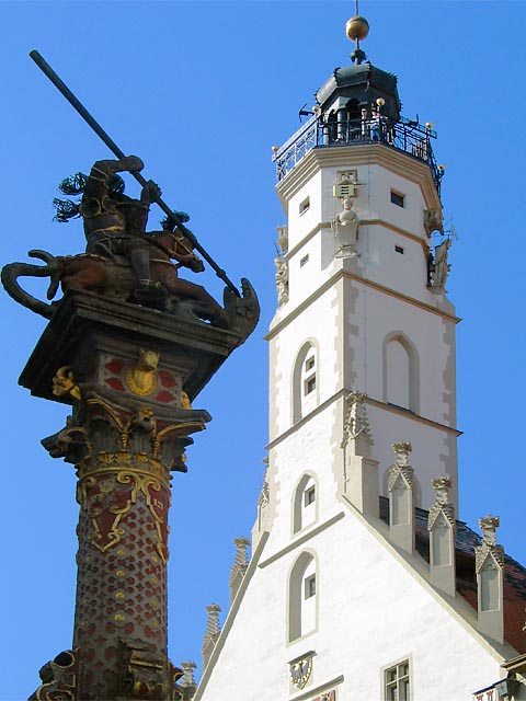 ROTHENBURG - ST. GEORGE FOUNTAIN & TOWER