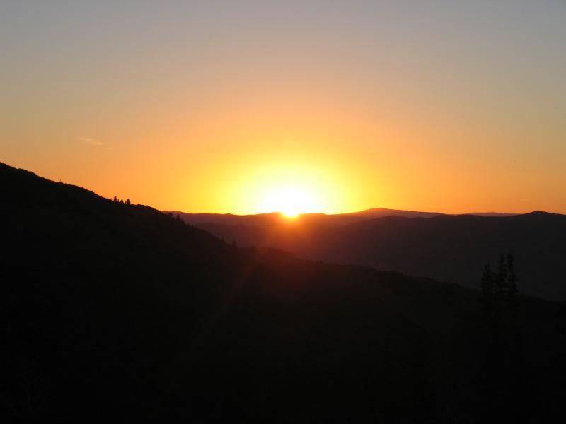 Sunrise at FRANCIS PEAK<br>MILE 18.76</br>