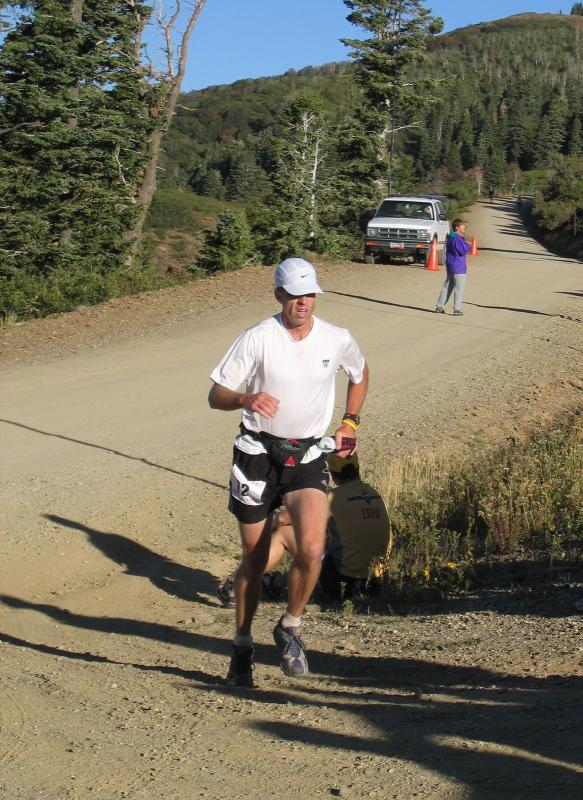 Tim Spence comes into Francis Peak