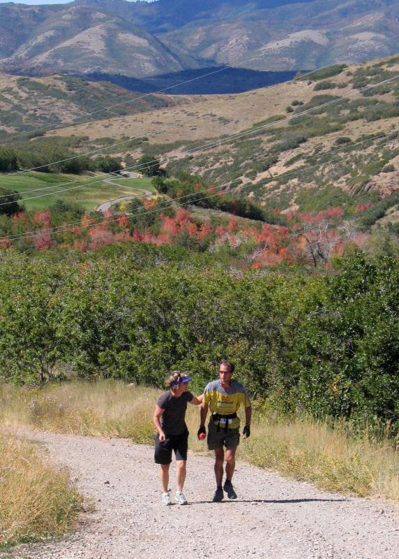 LAMBS CANYON<BR>MILE 53.13<BR>Catherine gets the scoop from Karl</br>