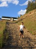 Don runs down Clayton Peak10,500 ft.