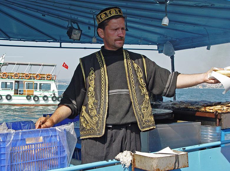 Fish-seller at Eminönü
