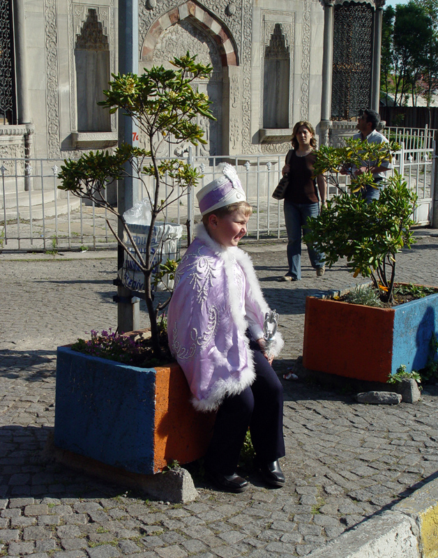 In a sünnet (circumcision) outfit