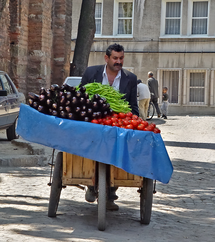 Vegetable vendor at Zeyrek
