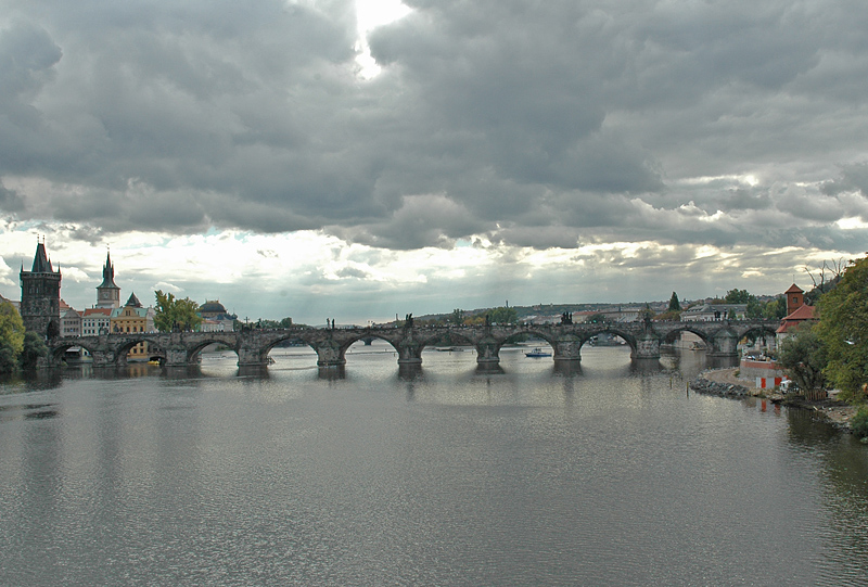 Storm over the Vltava River