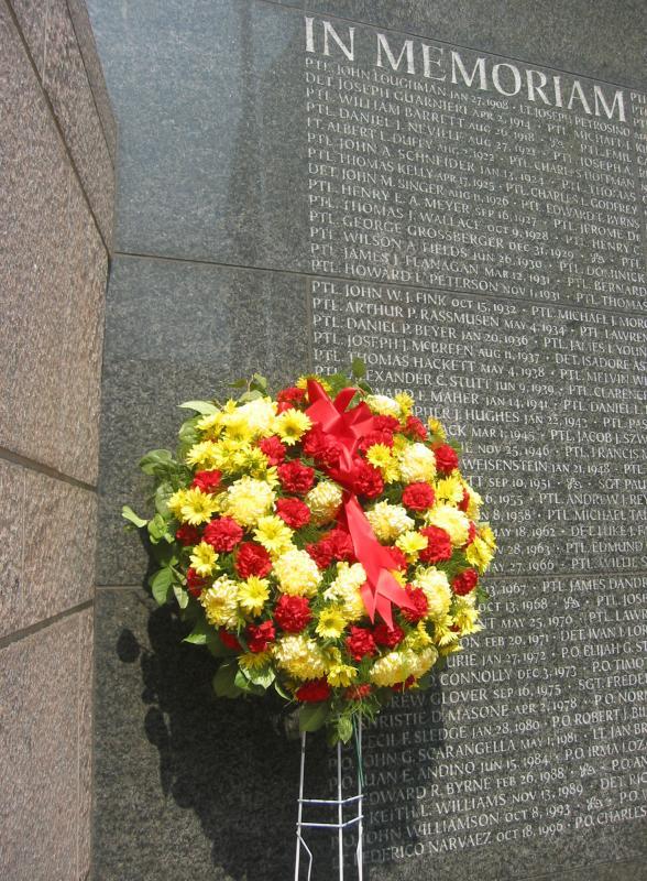 Memorial at Entrance to Hudson River Park