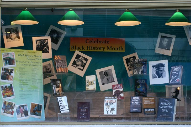 NYU Bookstore - Black History Month Window Display