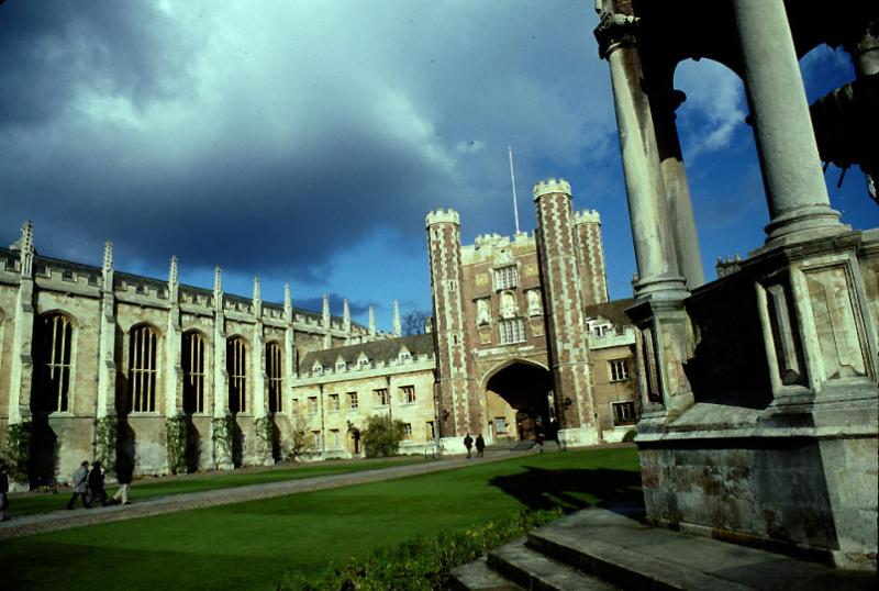 Gate of Trinity College, Cambridge, from the court.