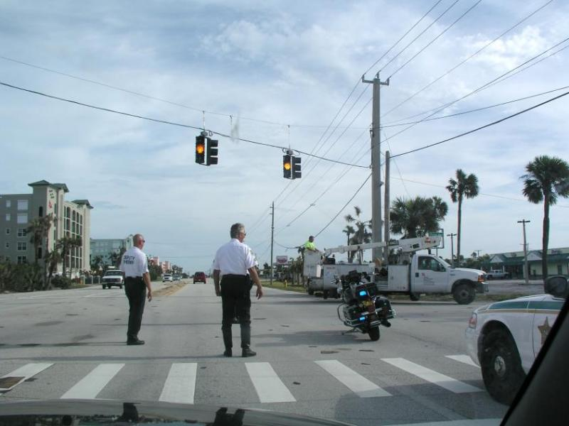 Brevard County Sheriffs Office directing traffic.