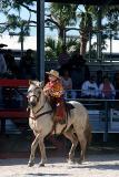 little rider on white horse