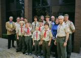 The scouts after the service