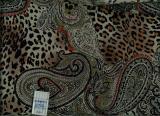 Leopard Paisley Silk Crepe