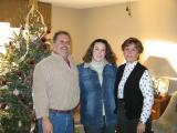 Abby's dad, Abby, and  Pat family christmas photo