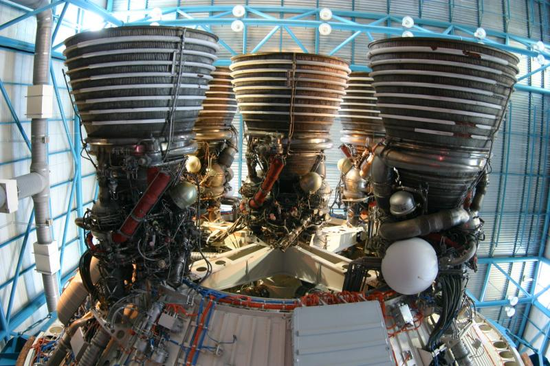 Saturn V 2nd stage nozzles