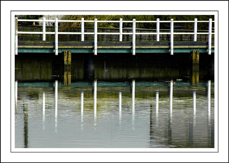 Reflected bridge, West Bay