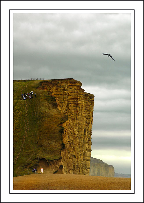 Picnic on the cliff, West Bay