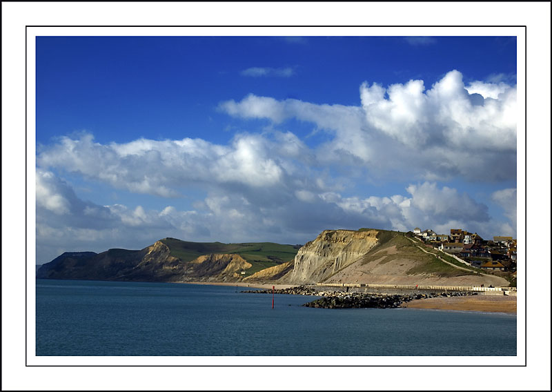 Looking west from West Bay, Dorset