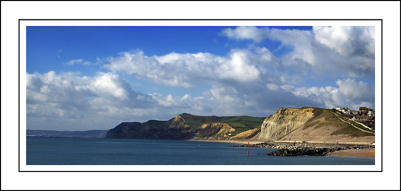 Westward panorama, West Bay, Dorset