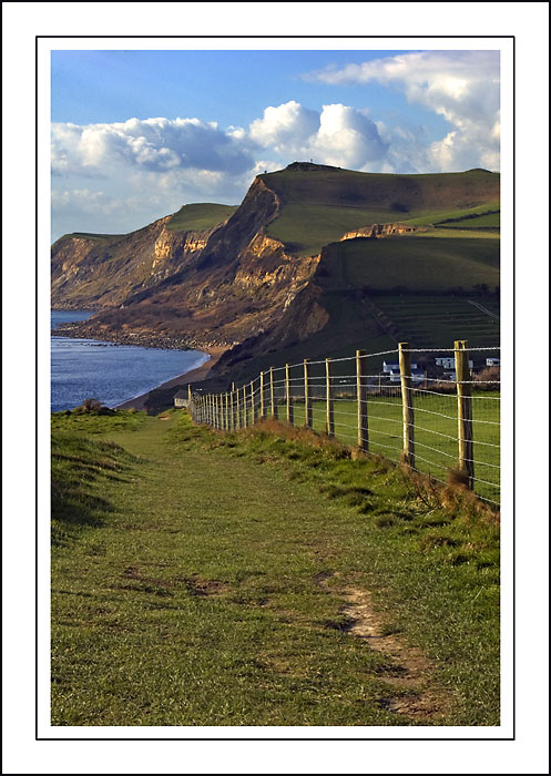 Coast path ~ west of West Bay, Dorset