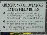 Arizona Model Aviators  flying field rules