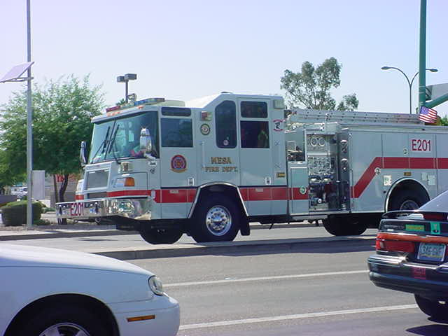 fire truck on call<br> in Mesa Arizona