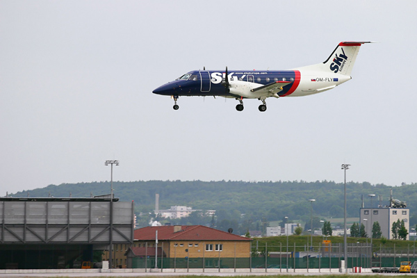 SkyEurope Embraer 120ER landing at Stuttgart (Germany)