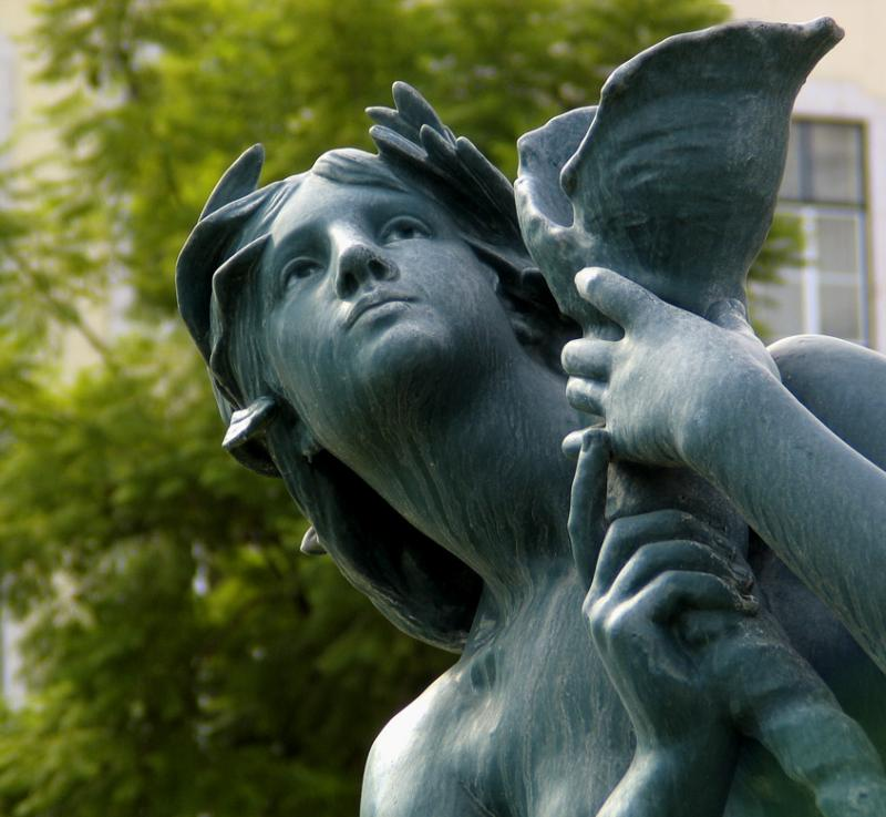 Face in the fountain, Rossio Square, Lisbon, Portugal, 2004