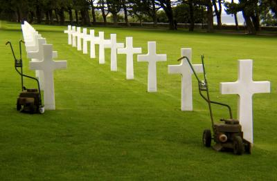 At Ease, United States Military Cemetery, Omaha Beach, St. Laurent, France, 2004