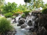 water feature at Waikiki Beach.
