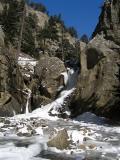 Boulder Falls in Winter