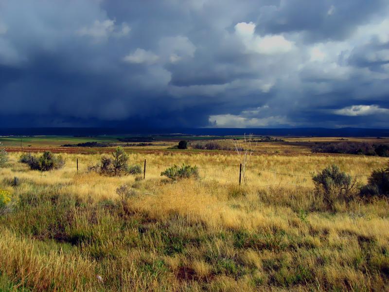 storm in high Utah desert