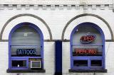 Tattoo parlor on State Street near U-M campus