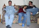Two-fisted beer drinker