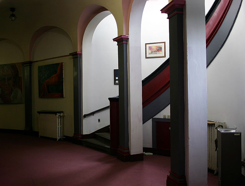 Stairway and hallway for theater